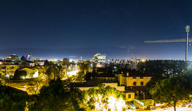 Overview of Pordenone at night Stock Images