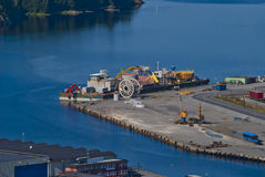 Overview (port of halden city) Royalty Free Stock Photography