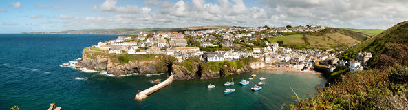 Overview of Port Isaac Royalty Free Stock Photo