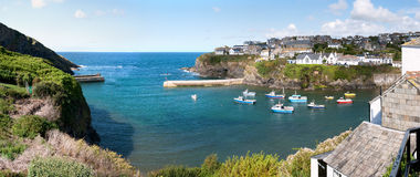 Overview of Port Isaac Stock Images