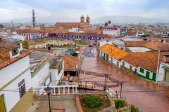 Overview during a rainy day at beautiful historic Royalty Free Stock Photos
