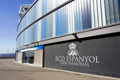 Overview of RCD Espanyol stadium Royalty Free Stock Photos