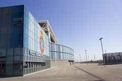 Overview of RCD Espanyol stadium Royalty Free Stock Photo