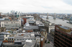 Overview of River Thames Royalty Free Stock Image