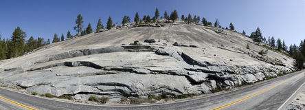 Overview rocks in Yosemite National Royalty Free Stock Photography
