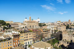 Overview of Rome, Italy Royalty Free Stock Photo