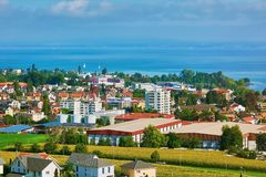 Overview of Rorschach. On the South Side of Lake Constance Bodensee Stock Photography