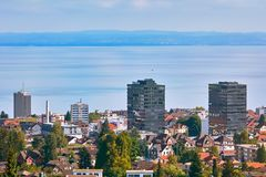 Overview of Rorschach. On the South Side of Lake Constance Bodensee Stock Photo