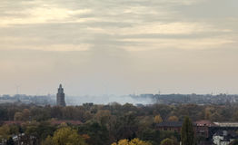 Overview of Rotehornpark in Magdeburg, Saxony-Anhalt, Germany, in November.  Stock Images