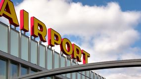 Overview of Rotterdam Airport Royalty Free Stock Images
