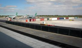 Overview of Rotterdam Airport Stock Images
