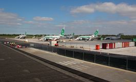 Overview of Rotterdam Airport Stock Photography