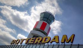 Overview of Rotterdam Airport Stock Photo