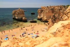 Overview of S. Rafael beach. Albufeira, Algarve, Portugal Stock Photo