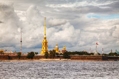 Overview of Saint Peter and Paul fortress in St. Petersburg Royalty Free Stock Image