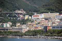 Overview of Salerno, Italy Royalty Free Stock Photos
