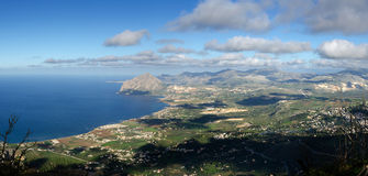 Overview of San Vito Lo Capo Royalty Free Stock Photography