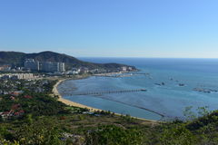 Overview of Sanya city, Hainan Province, China Royalty Free Stock Images