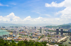 Overview of Sanya city, Hainan Province, China Stock Image