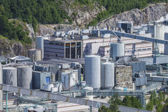 Overview, saugbrugs paper factory Royalty Free Stock Image