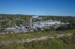 Overview, saugbrugs paper factory stock photography