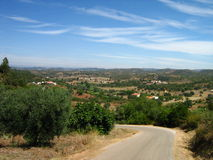 Overview scenic nature algarve. In portugal Royalty Free Stock Image