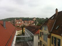 Overview from schwaebisch hall royalty free stock image