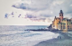 Overview of a seaside town royalty free stock photography