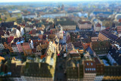 Overview with a section of Strasbourg city Stock Photography