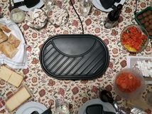 Overview shoot of a raclette in Germany royalty free stock images