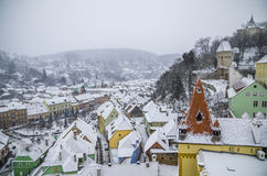 Overview of Sighisoara, Romania Royalty Free Stock Photos