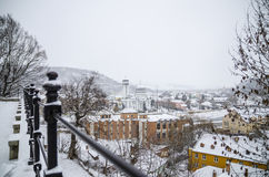 Overview of Sighisoara, Romania Stock Image