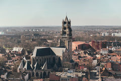 Overview of Sint-Salvator Cathedral in Bruges Royalty Free Stock Photography