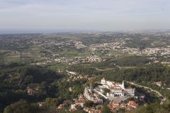 Overview of Sintra land Stock Image