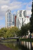 Overview of the skyscrapers at the westersingel in the inner city of Rotterdam.  stock image