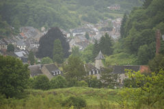 Overview of a small Village in a Hill Country in Belgium Stock Photography