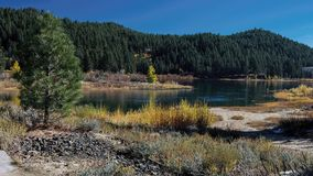 Spooner Lake in the Autumn with yellow leaves. Overview of the Spooner Lake in the Autumn highlighting yellow vegetation Stock Images