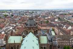 Overview of Strasbourg, France. Strasbourg is the capital and principal city of the Alsace region in north eastern France and is the official seat of the Royalty Free Stock Images