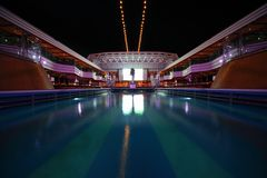 Overview of swimming pool in the deck Royalty Free Stock Photography