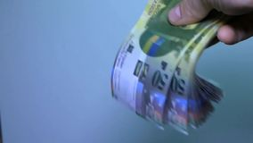 Overview of Swiss money. Swiss banknote 50. HD stock video footage