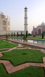 Overview of the Taj Mahal and garden Stock Images