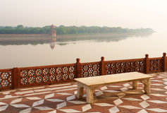 Overview of Taj Mahal garden, over river Jamuna. Agra, India Stock Photography