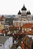 Overview of the Tallinn, Estonia Old Town Stock Photo