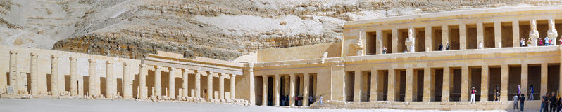 Overview Temple of Queen Hatshepsut at Luxor Stock Photography