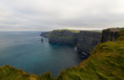 Overview on total area at Cliff of Moher, Ireland Stock Photos