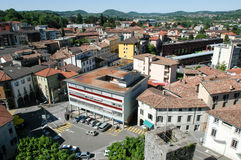Overview at the town of Mendrisio Stock Photo