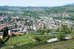 Overview at the town of Mendrisio Stock Image