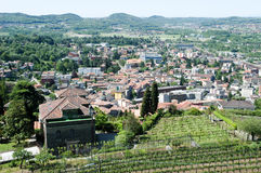 Overview at the town of Mendrisio Royalty Free Stock Image