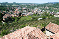 Overview at the town of Mendrisio Stock Images