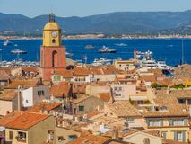 The town of Saint-Tropez, France. stock photography